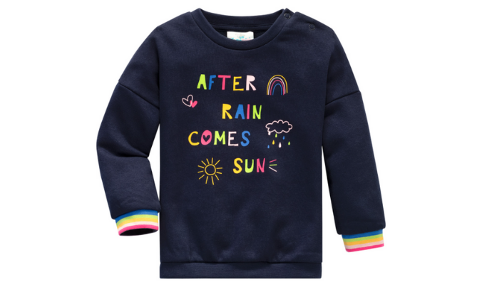 Baby Sweatshirt mit buntem Front-Print