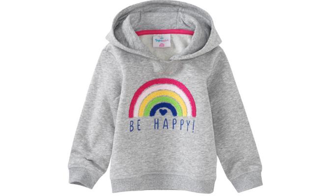 Baby Hoodie mit Regenbogen-Applikation