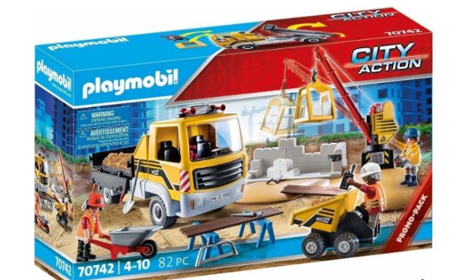 PLAYMOBIL® 70742 Baustelle mit Kipplaster