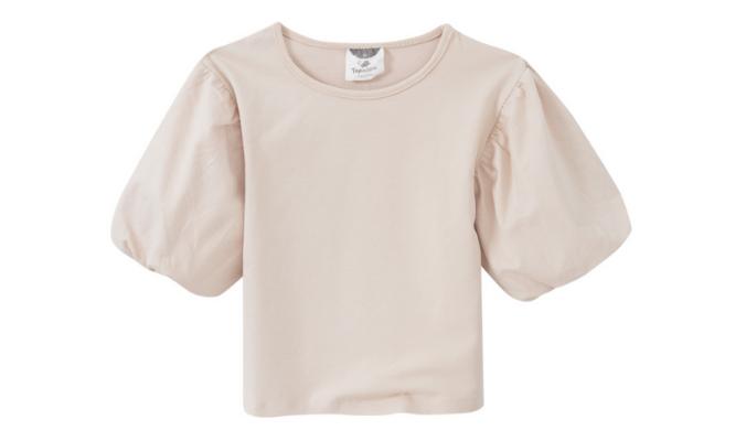 T-Shirt mit großen Puffärmeln