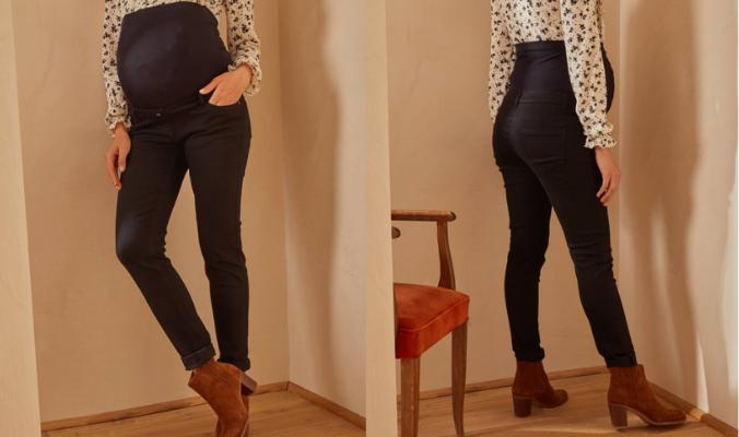 Umstands-Jeans mit Stretch-Einsatz