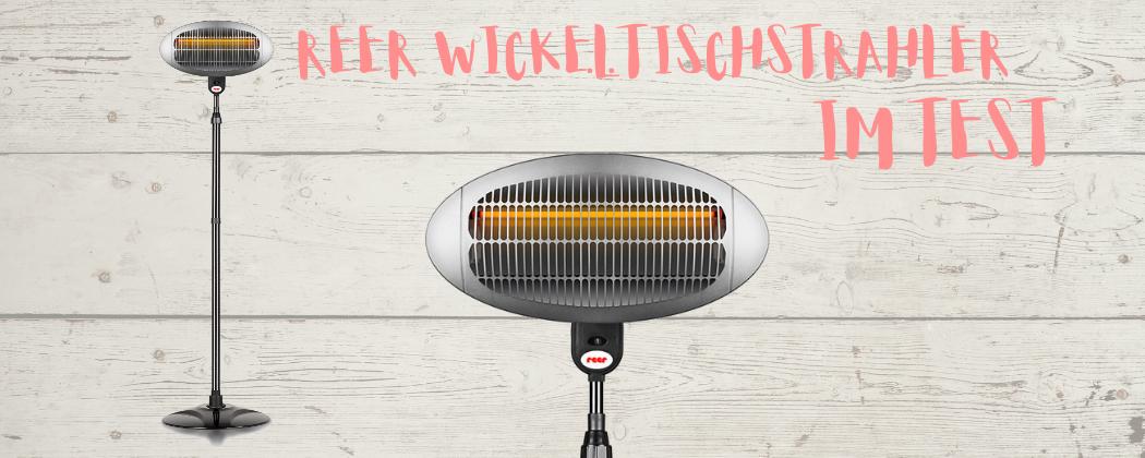 Banner: Testbericht: reer Wickeltischstrahler mit Standfuß